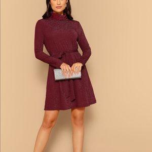 Dresses & Skirts - NWOT Belted Red Shimmer Dress